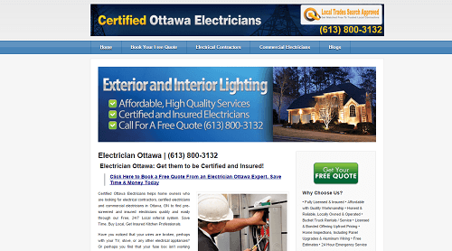 ElectricianinOttawa Website1