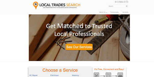 Local Trades Search Website1