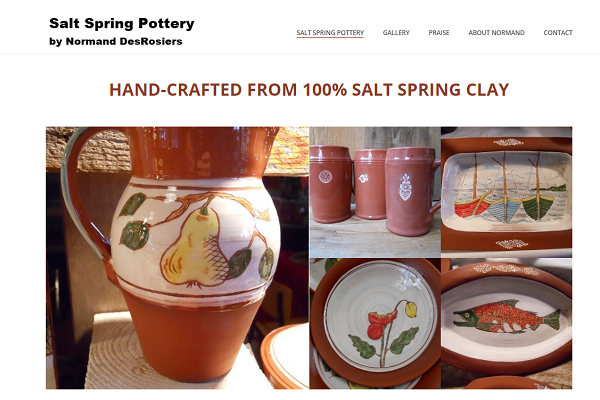 Salt Spring Pottery Website