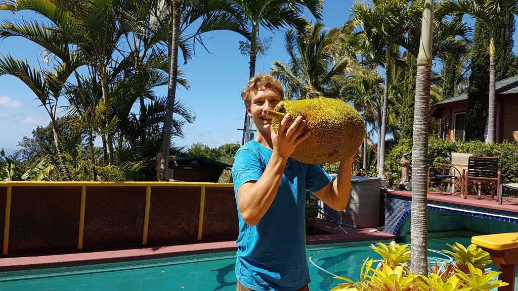 Nigel with a Jack Fruit