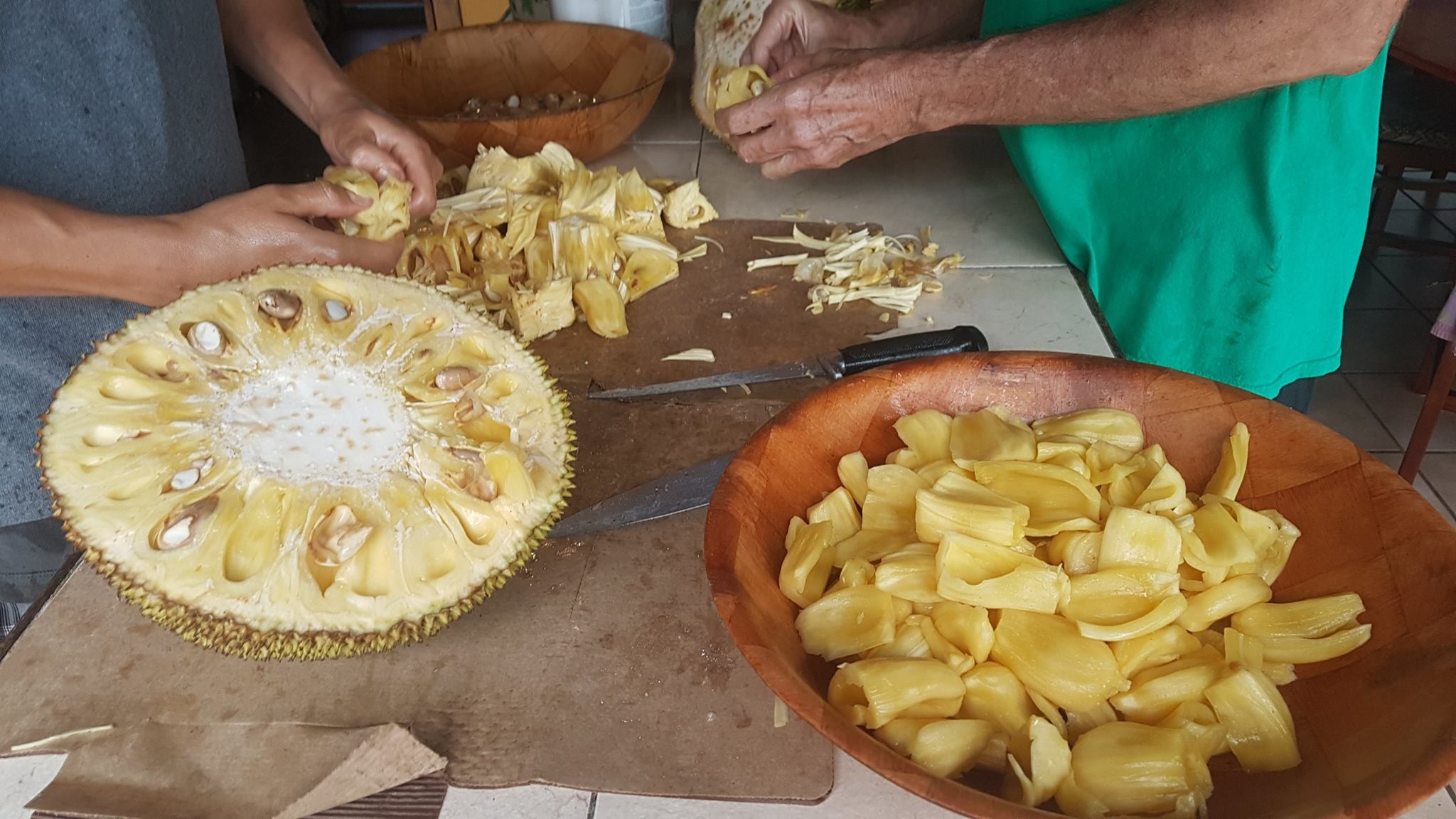 Processing Jack Fruit